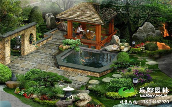 家庭庭院景观设计效果图