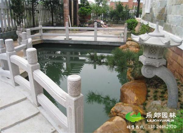 庭院鱼池假山设计图
