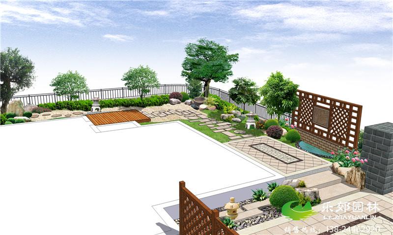 日式庭院景观设计后花园效果图