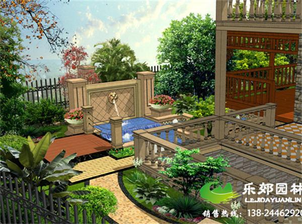 欧式别墅庭院设计效果图