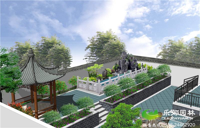 鱼池设计效果图     庭院鱼池设计得体,作品中的鱼池假山,休闲平台